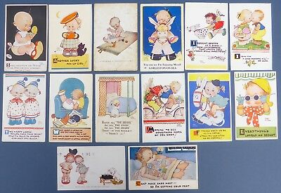14 Gorgeous Vintage Mabel Lucie Attwell Illustrated Postcards 1921-1961