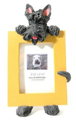 "Scottie Scottish Terrier photo frame 2 1/2"" x 3 1/2"" photo resin free standing"