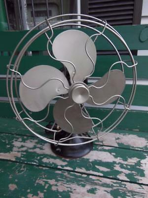 3-Speed Victor Electric Cast Iron Base Oscillating Fan Restored + New Cord Works
