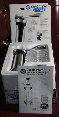Wilton Cookie Pro Ultra Spritz Cookie Press Stainless Steel Canister  (3c*)