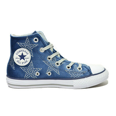 "CONVERSE Scarpe RAGAZZA Shoes BAMBINA ""All Star Hi"" NEW Sneakers NUOVE Donna Nvy"