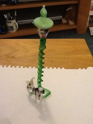 Glass Dog And Lamppost