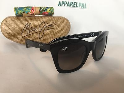 New Maui Jim COCO PALMS Polarized Sunglasses 720-02 Black/Neutral Gray Women's