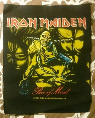 Vintage IRON MAIDEN Piece of Mind Back Patch 1983