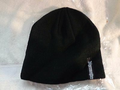 Jagermeister Knit Beanie Style Hat Black With White lettering
