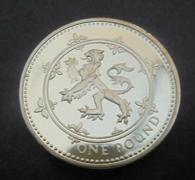 Great Britain 1999 £1 One Pound Scarce Scottish Lion Proof Coin From Set