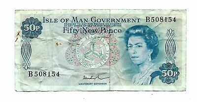 Isle of Man (P28c) 50 New Pence 1972