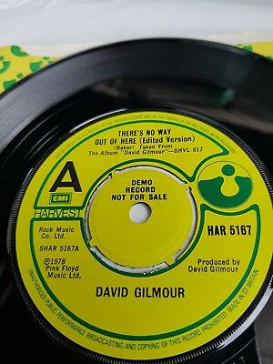 David Gilmour Pink Floyd - Theres No Way Out Of Here 1978 Uk Demo Har 5167 Nm