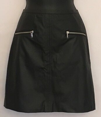 Nwt - H & M Faux Leather Short Skirt. Size 12.