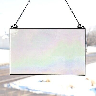 Stained Glass Panel for Window Suncatchers Decorations Mission Opalescent