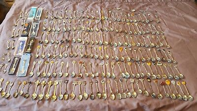 Souvenir Spoons LOT OF 180 INCLUDES CANADA,US,EUROPE SILVER PLATE,STEEL ETC #2