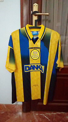 Official EVERTON FC away shirt used in PREMIER LEAGUE 1996/97 season.