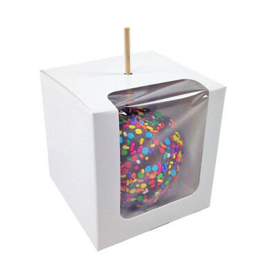 "Paper Candy Apple Boxes 4""x4""x4"""