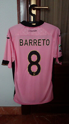 #8 BARRETO, US PALERMO, Match Worn PLAYER home shirt to SERIE A 2014-15
