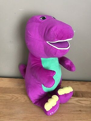 "Jumbo 18"" Talking Barney Soft Toy - Fisher Price 2001 **WD19"