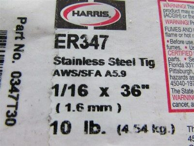 "7 Pounds of Harris ER347 Stainless Steel 1/16"" X 36"" Tig Welding Wire W-15"