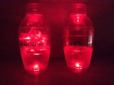 Grand Marnier LED Light Up Liquid Activated Set Of Drink Shakers NEW & F/S RARE