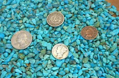Crushed & Tumble polish Turquoise Inlay Material 2 ounces nuggets stone, wood