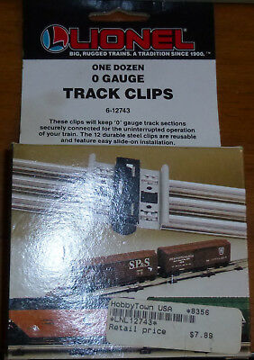 LIONEL O GAUGE TRACK CLIPS train clips 6-12743 NEW in box Qty 12