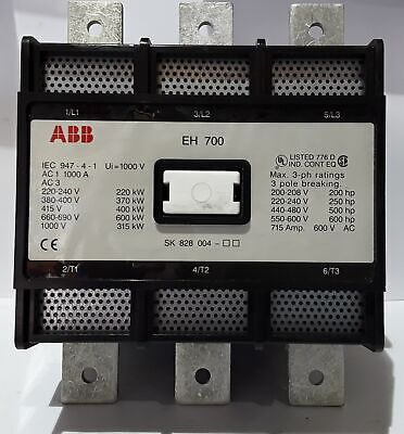 ABB EH700-30-11 SK828004 Contactor 715A 600VAC 3 Phase - New Surplus Open