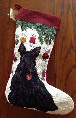 UNION TRADING CO. Scottish Terrier NEEDLEPOINT STOCKING