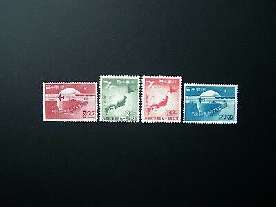 Japan Stamps 1949 Year Complete Set, Scott # 474-477. Mlh