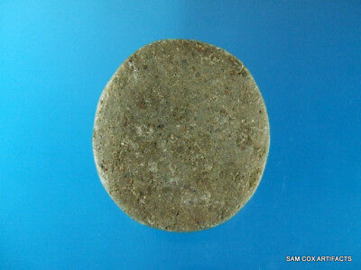 Fine Authentic Kentucky Hardstone Fort Ancient Discoidal - Arrowheads Artifacts