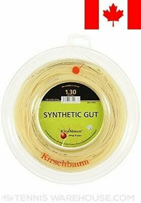 Kirschbaum Reel Synthetic Gut Tennis String, Natural, 1.30mm/16-Gauge