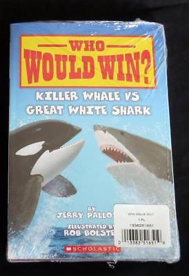 7 NEW SEALED WHO WOULD WIN? Early Reader Animal CHILDREN PICTURE BOOKS LOT SET