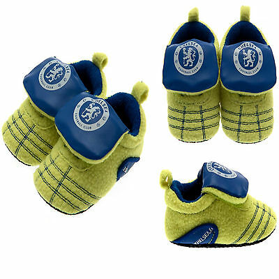 Chelsea Fc Neon Baby Football Boot Booties Babys Pram Shoes Slippers Crib