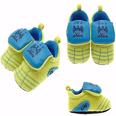 Manchester City Fc Neon Baby Football Boot Booties Baby Slippers Crib Pram Shoes