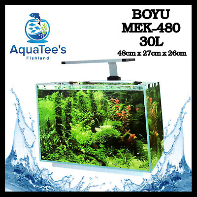 Boyu Mek-480 30-L Aquarium Complete Fish Water Tank Pump Filter Led Marine Nan0