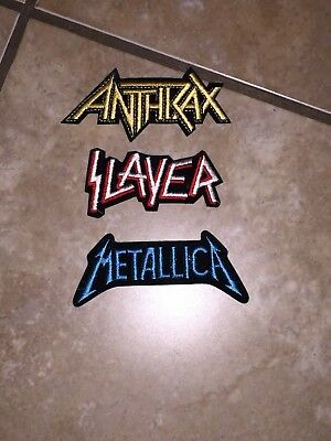 Metallica/SLAYER/Anthrax Embroidered Patches-The Big Four