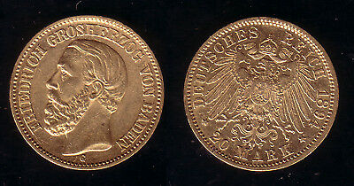 20 Mark Gold Baden Friedrich I. 1894