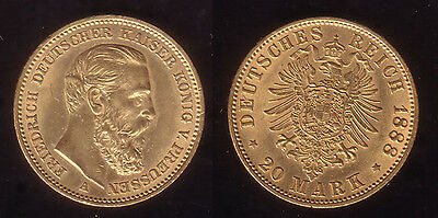 "20 Mark Gold Preussen ""Friedrich III."" 1888"
