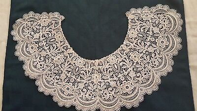 """Vintage Style White Lace Victorian Collar By Toppettes - A.brod 6"""" Wide"""