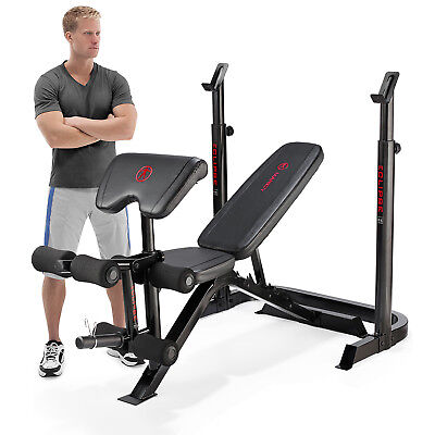 Marcy Eclipse BE3000 Adjustable Incline Decline Weight Bench & Squat Rack Stand