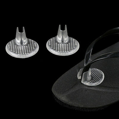 Silicone Gel High Heel Pads Flip Flop Insoles Insert Cushion Clear New UK