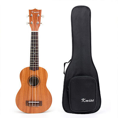 21 Inch Soprano Ukulele Uke Sapele Musical Instrument Hawaii Guitar with Gig Bag