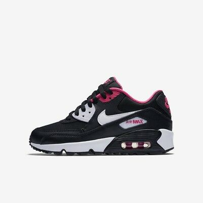 premium selection 7b8e9 f0689 ... sale nike air max 90 mesh girls black running shoes trainers size 3 6  new rrp