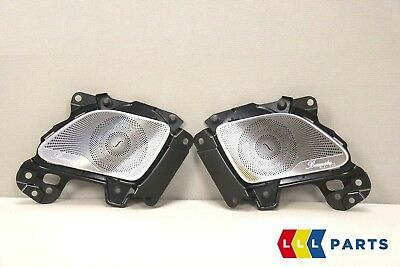 New Genuine Mercedes Mb S Class W222 Burmester Front Speaker Cover Grill Set L+R