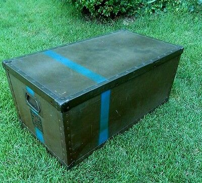 US Beals & Selkirk 1940's WWII WW2 RARE Military Transport Box Footlocker Trunk