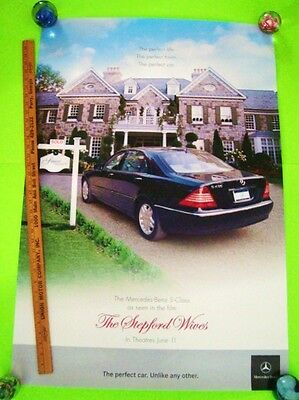 2004 MERCEDES BENZ S-CLASS HUGE DEALER POSTER The Stepford Wives NICOLE KIDMAN