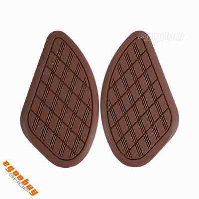 Cafe Racer Motorcycle Gas Tank Traction Pad Side Knee Pad Light Brown Universal