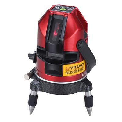 UA605 Red Automatic Self Leveling 5 Line 1 Point 4V1H Laser Level Measure