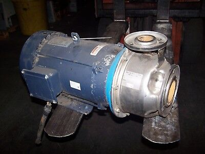 Goulds G&l 15 Hp Stainless Steel Centrifugal Pump 1.5X2.5-8  230/460 Vac 3520Rpm