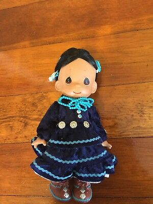 """Precious Moments """"Silver Moon"""" Indian Family Native American Doll 9"""""""