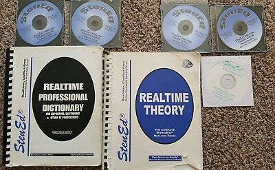 StenEd Realtime Set RARE! Includes Theory, Professional Dictionary and more!
