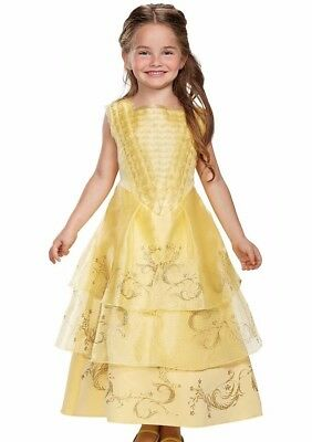 Belle Ball Gown Deluxe Costume Dress Child Disney Princess XS 3T-4T S 4-6 M 7-8