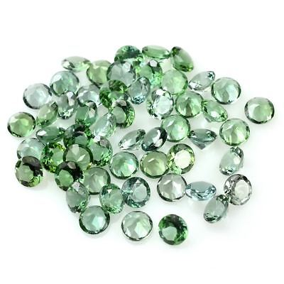 5 PIECES OF 1mm ROUND-FACET RARE NATURAL RUSSIAN CHROME TOURMALINE GEMSTONE
